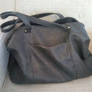 Gray Handbag Large